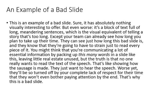 bad slide deck example